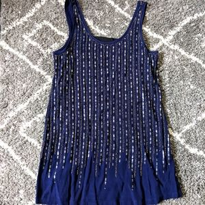 Beaded relaxed fit dress sz:S